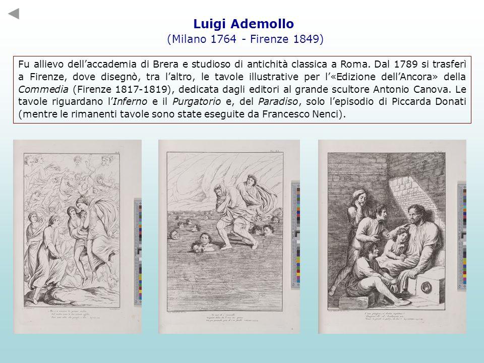 Luigi Ademollo (Milano 1764 - Firenze 1849) Fu allievo dellaccademia di Brera e studioso di antichità classica a Roma. Dal 1789 si trasferì a Firenze,