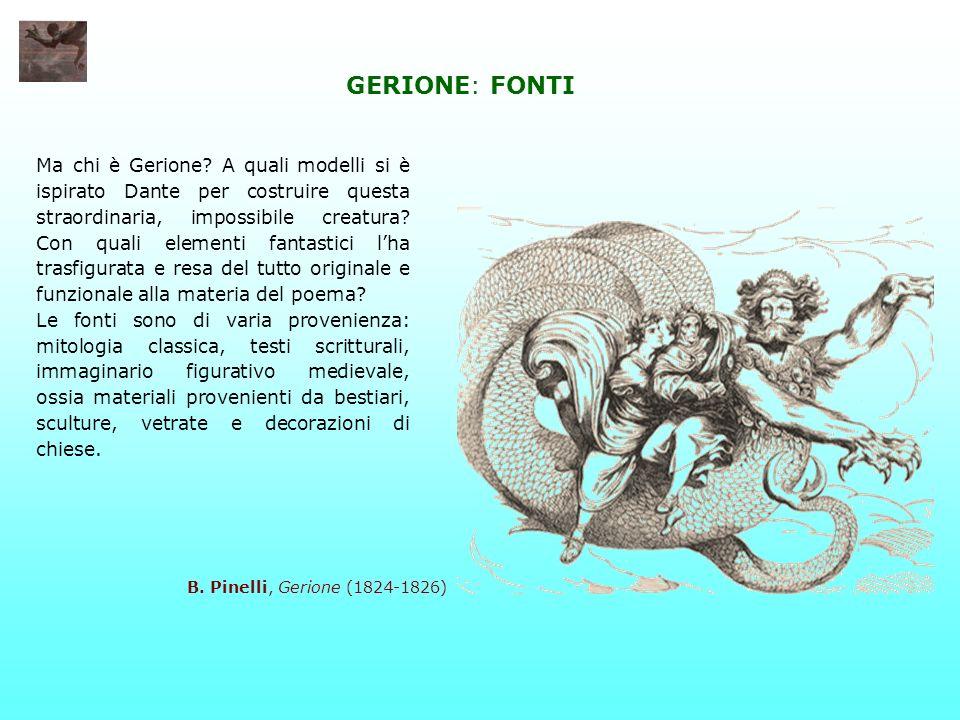 GERIONE: FONTI Ma chi è Gerione? A quali modelli si è ispirato Dante per costruire questa straordinaria, impossibile creatura? Con quali elementi fant