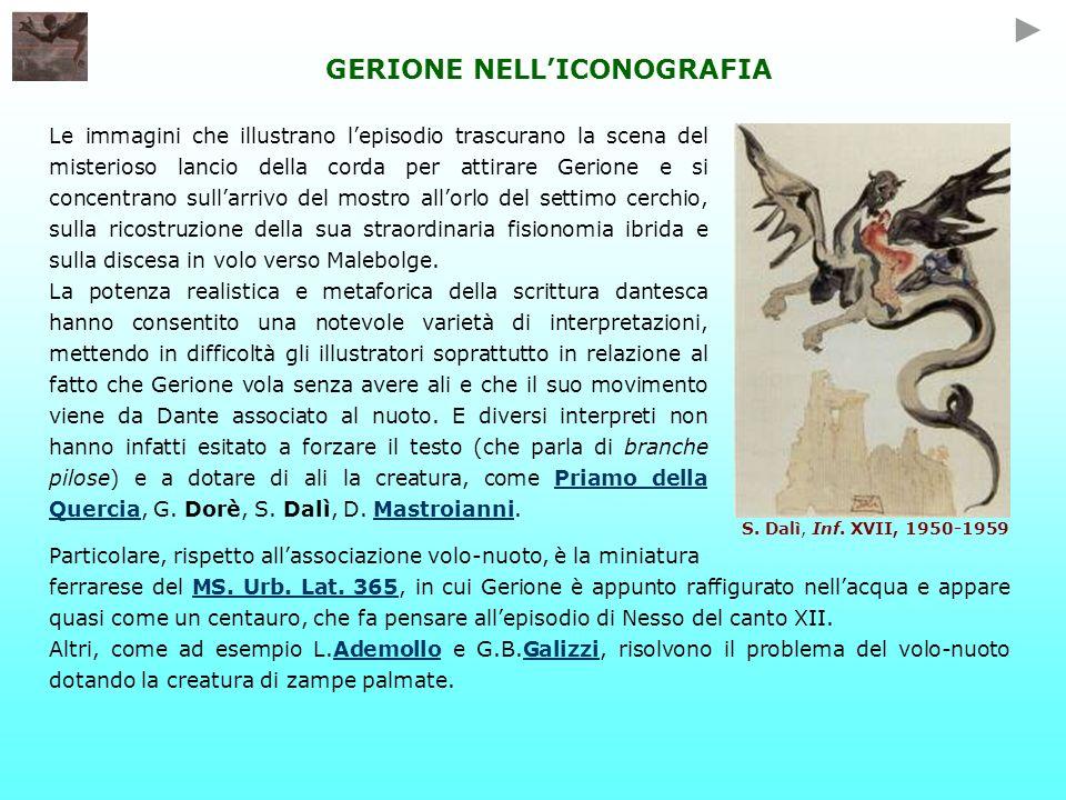 GERIONE NELLICONOGRAFIA Le immagini che illustrano lepisodio trascurano la scena del misterioso lancio della corda per attirare Gerione e si concentra