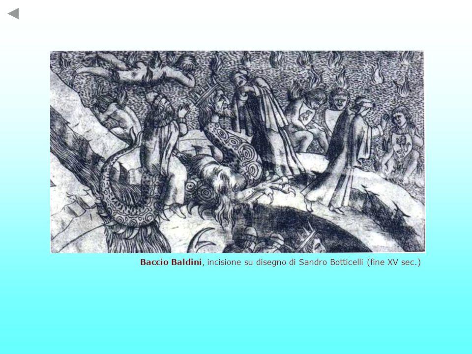 Baccio Baldini, incisione su disegno di Sandro Botticelli (fine XV sec.)