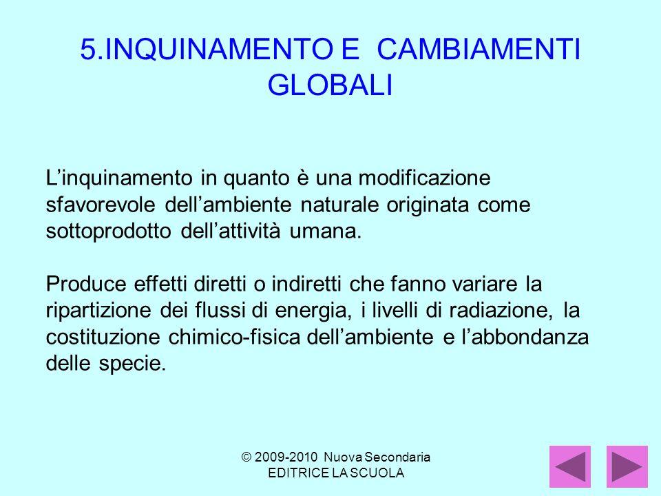Linquinamento in quanto è una modificazione sfavorevole dellambiente naturale originata come sottoprodotto dellattività umana.