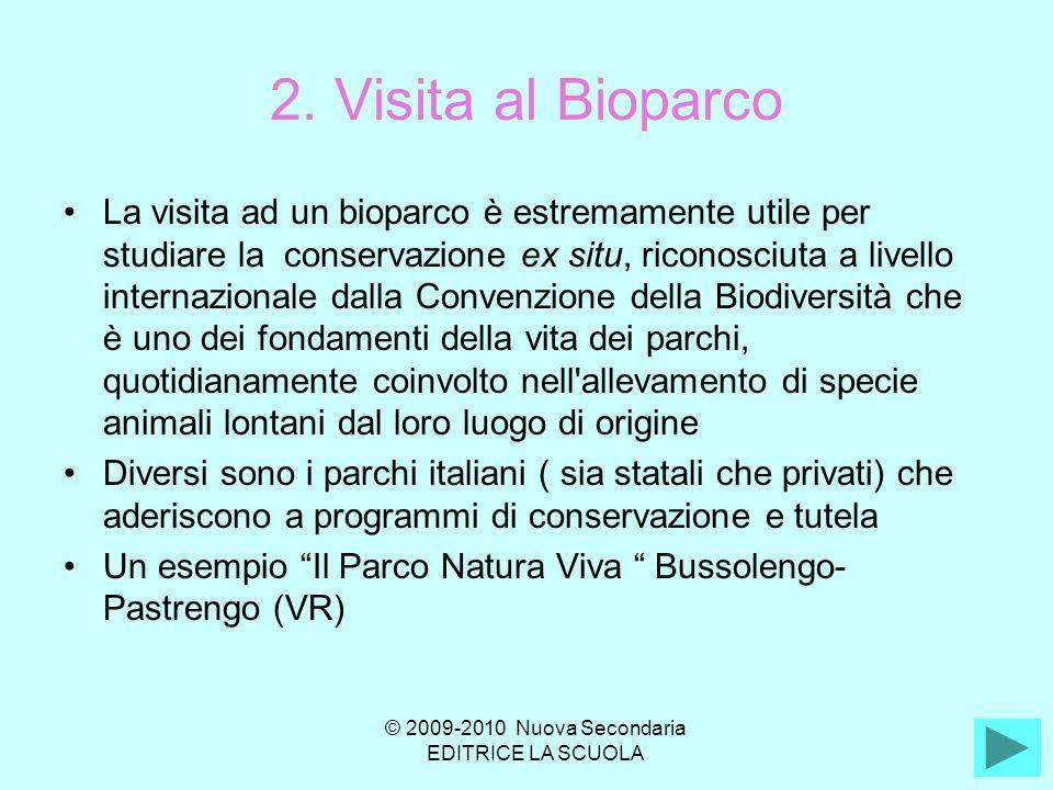 2. Visita al Bioparco La visita ad un bioparco è estremamente utile per studiare la conservazione ex situ, riconosciuta a livello internazionale dalla