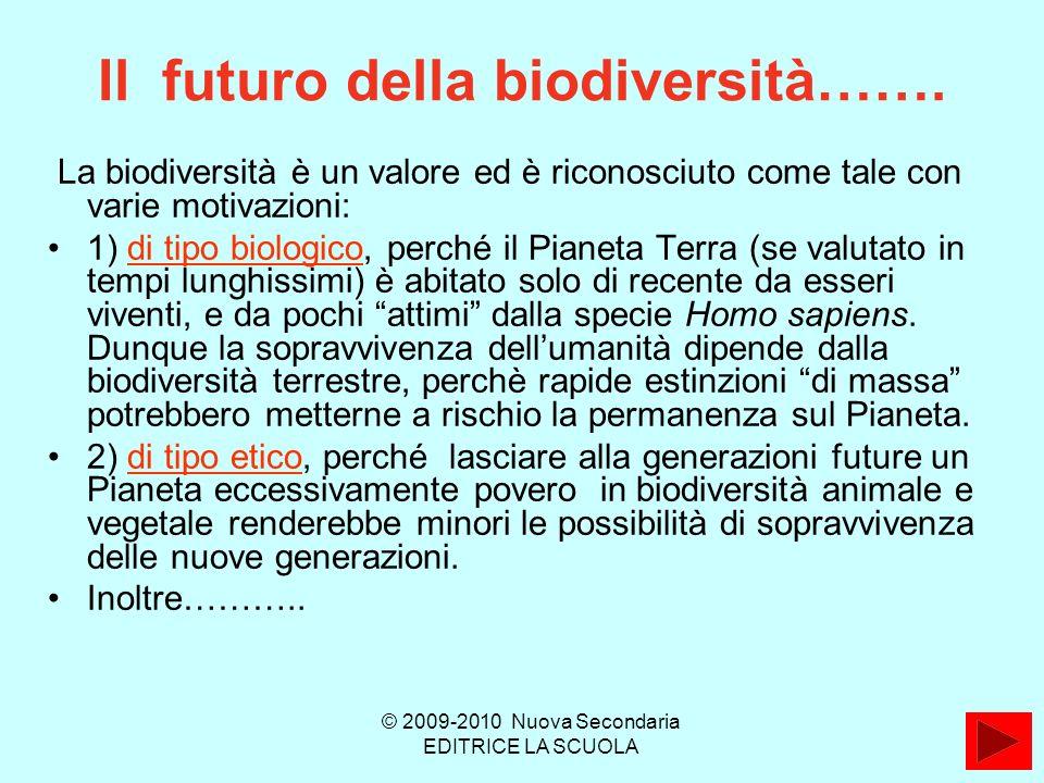 Il futuro della biodiversità…….