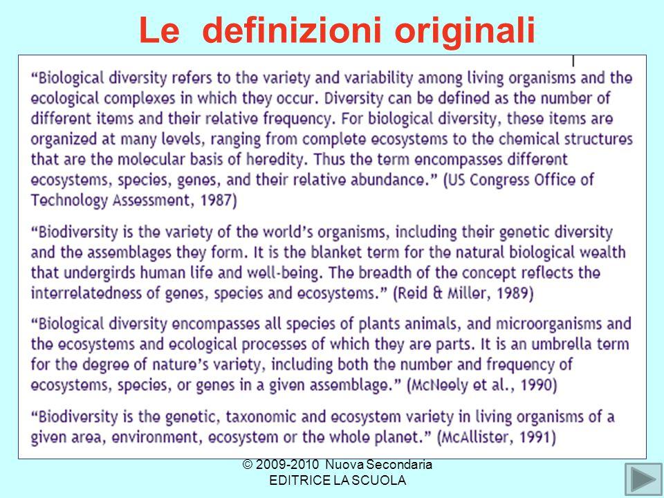 Le definizioni originali © 2009-2010 Nuova Secondaria EDITRICE LA SCUOLA