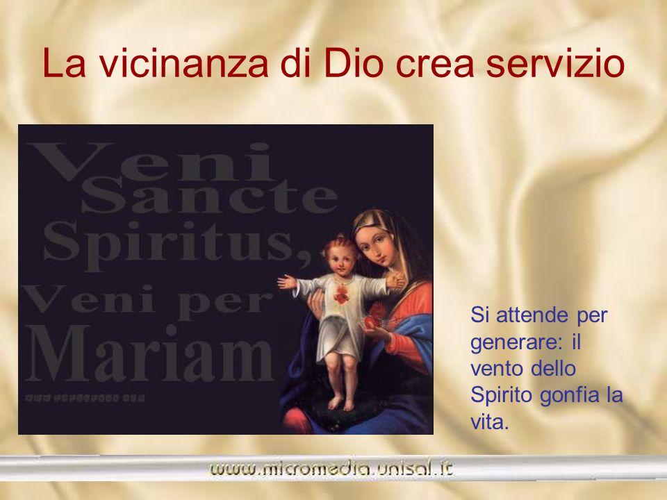 La vicinanza di Dio crea servizio E la speranza è una vergine gravida di un mondo altro. Solo le donne, le madri conoscono lattesa, essa è inscritta f