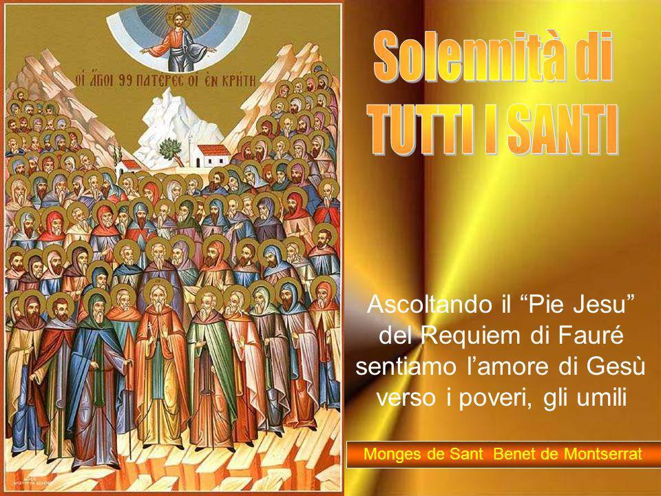 Come i santi, Signore, vogliamo impegnarci a seguire il tuo programma di vita