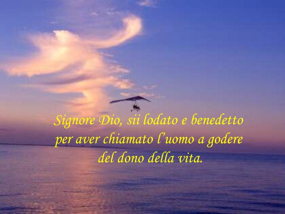 Signore Dio, sii lodato e benedetto per aver chiamato luomo a godere del dono della vita.