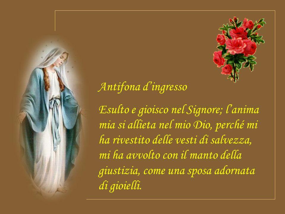 O Padre, che nellimmacolata concezione della Vergine hai preparato una degna dimora per il tuo Figlio e in previsione della morte di lui lhai preserva
