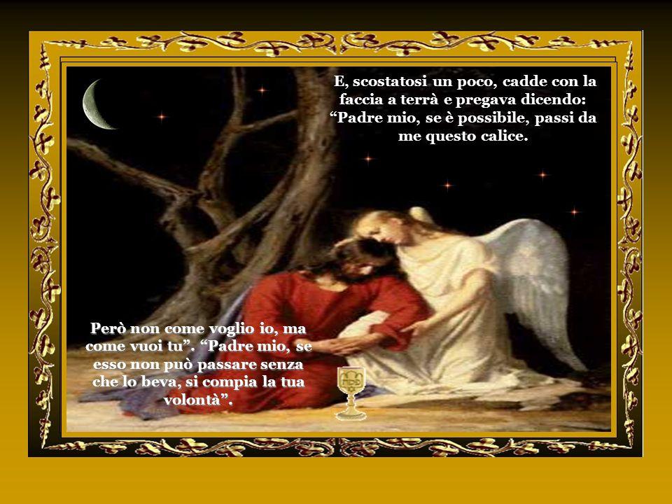 Mentre mangiavano, Gesù prese il pane, pronunziò la preghiera di benedizione, lo spezzò, lo diede ai suoi discepoli e disse: Prendete e mangiate: ques