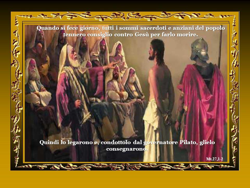 Quando si fece giorno, tutti i sommi sacerdoti e anziani del popolo tennero consiglio contro Gesù per farlo morire.