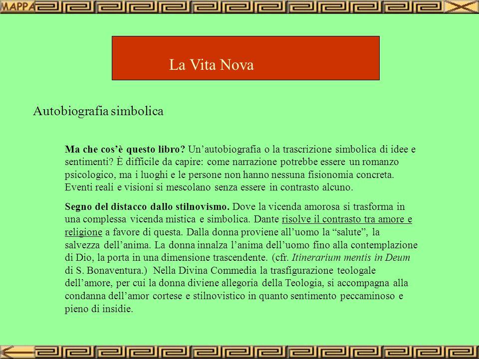 La Vita Nova Autobiografia simbolica Ma che cosè questo libro? Unautobiografia o la trascrizione simbolica di idee e sentimenti? È difficile da capire