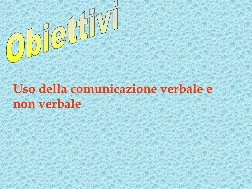 Uso della comunicazione verbale e non verbale