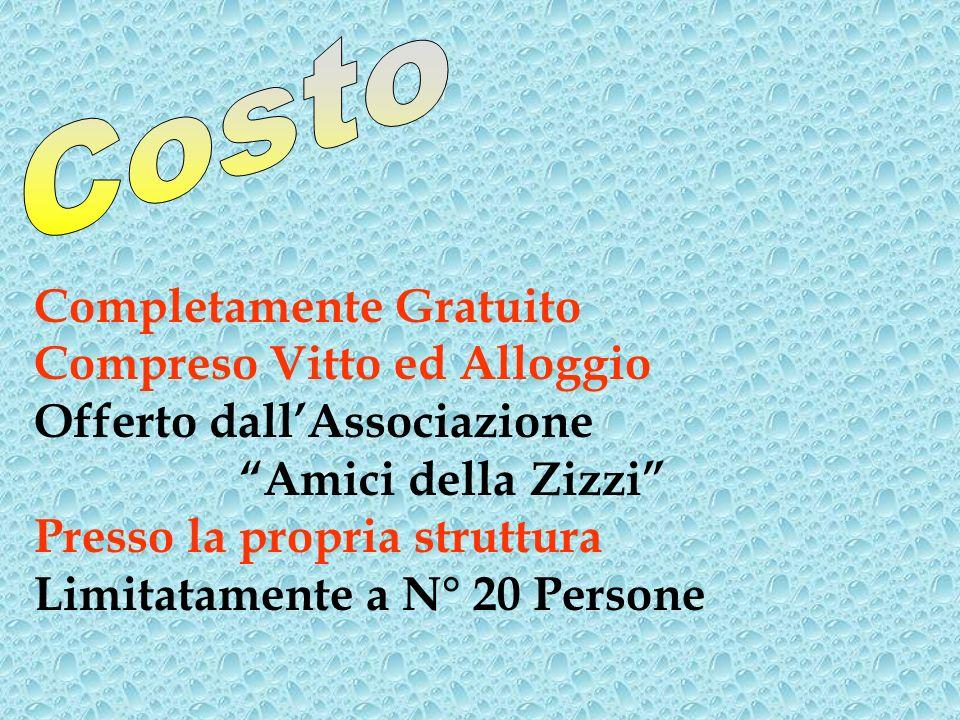 Associazione Amici della Zizzi Via Piemonte, 52 – Livorno Tel.