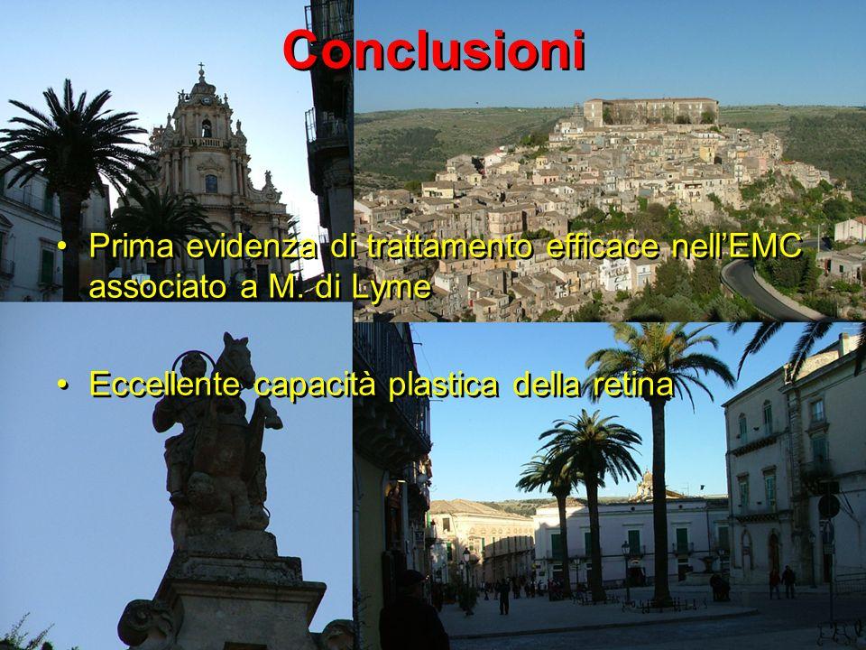 Conclusioni Prima evidenza di trattamento efficace nellEMC associato a M.