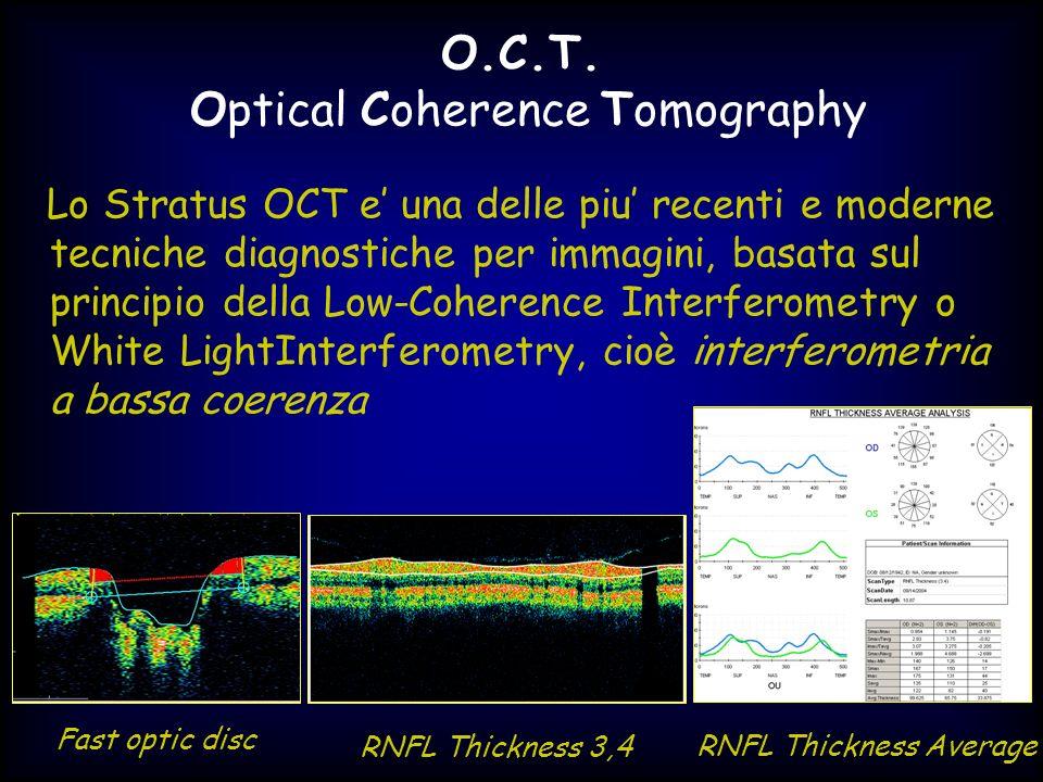 Lo Stratus OCT e una delle piu recenti e moderne tecniche diagnostiche per immagini, basata sul principio della Low-Coherence Interferometry o White L