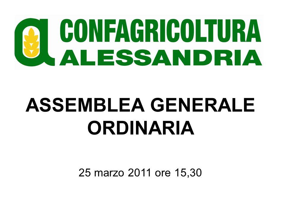 ASSEMBLEA GENERALE ORDINARIA PROSPETTIVE E IPOTESI DI RICADUTA SULLAGRICOLTURA ALESSANDRINA DELLA RIFORMA PAC POST 2013