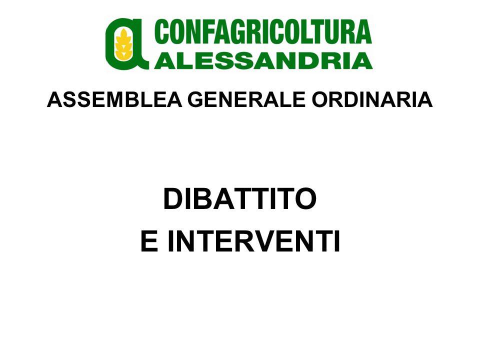 ASSEMBLEA GENERALE ORDINARIA DIBATTITO E INTERVENTI