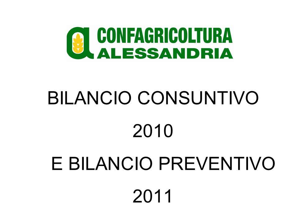 BILANCIO CONSUNTIVO 2010 E BILANCIO PREVENTIVO 2011