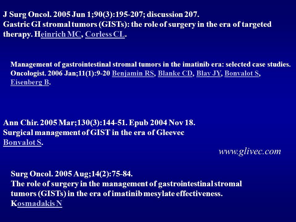 Surg Oncol.2005 Aug;14(2):75-84.