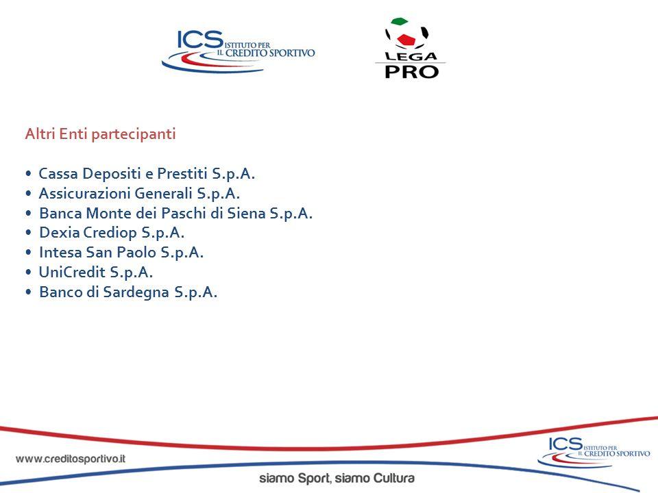 Altri Enti partecipanti Cassa Depositi e Prestiti S.p.A. Assicurazioni Generali S.p.A. Banca Monte dei Paschi di Siena S.p.A. Dexia Crediop S.p.A. Int