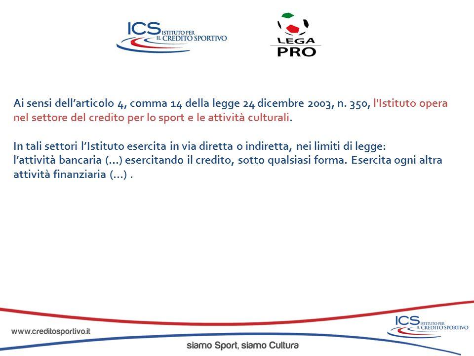 www.creditosportivo.it info@creditosportivo.it Sede Legale e Uffici : Via G.
