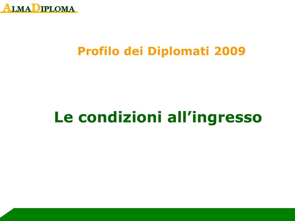 Le condizioni allingresso Profilo dei Diplomati 2009