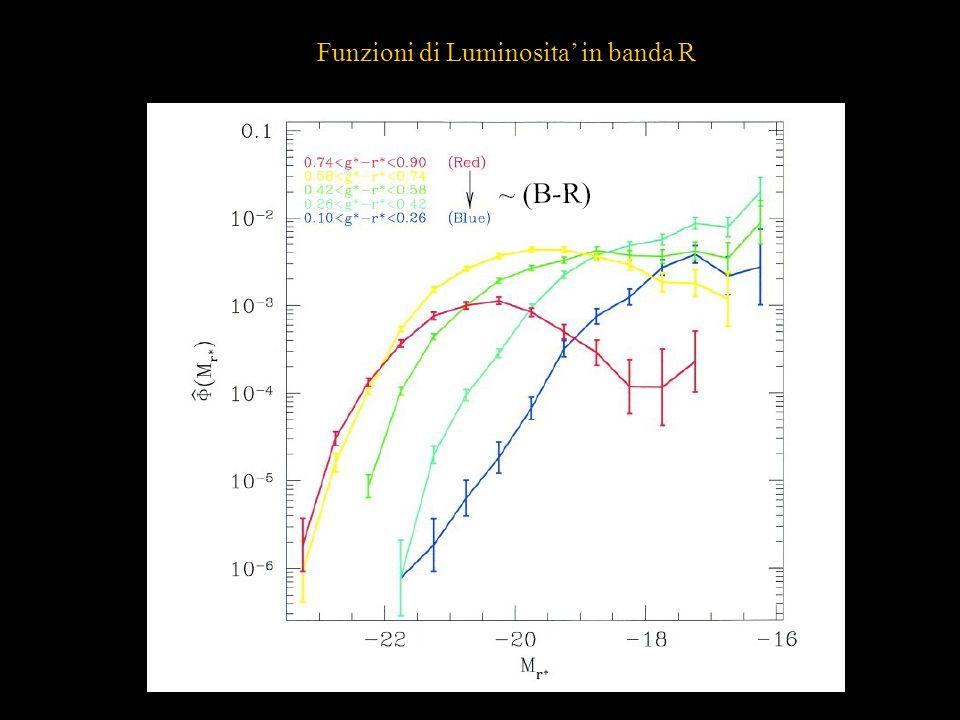 Funzioni di Luminosita in banda R
