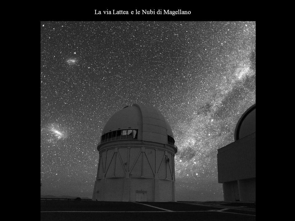 La via Lattea e le Nubi di Magellano