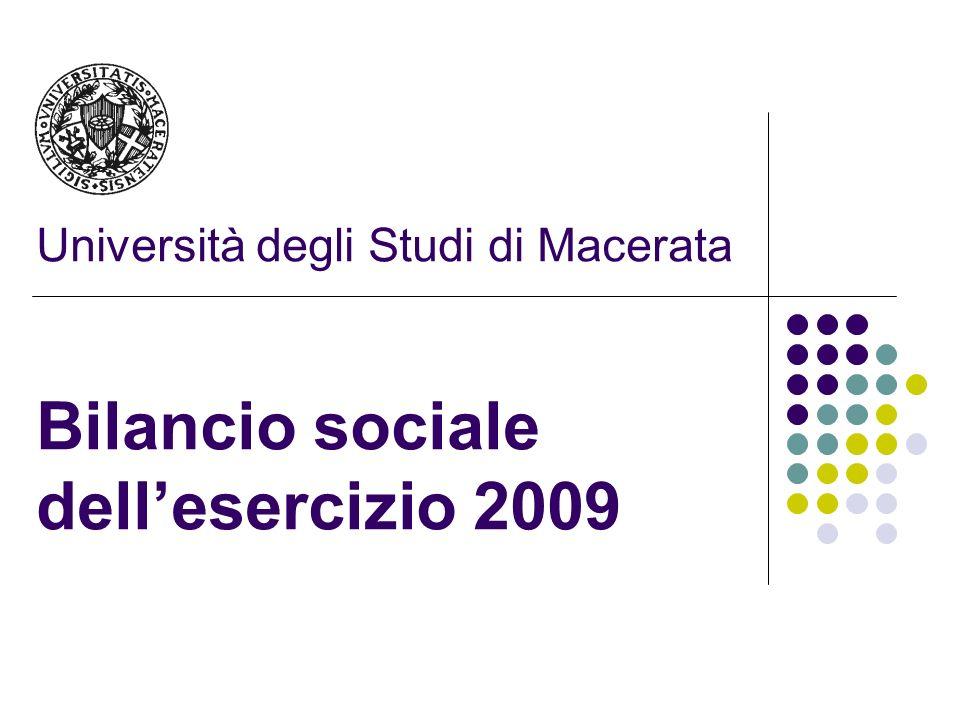 Università degli Studi di Macerata Bilancio sociale dellesercizio 2009