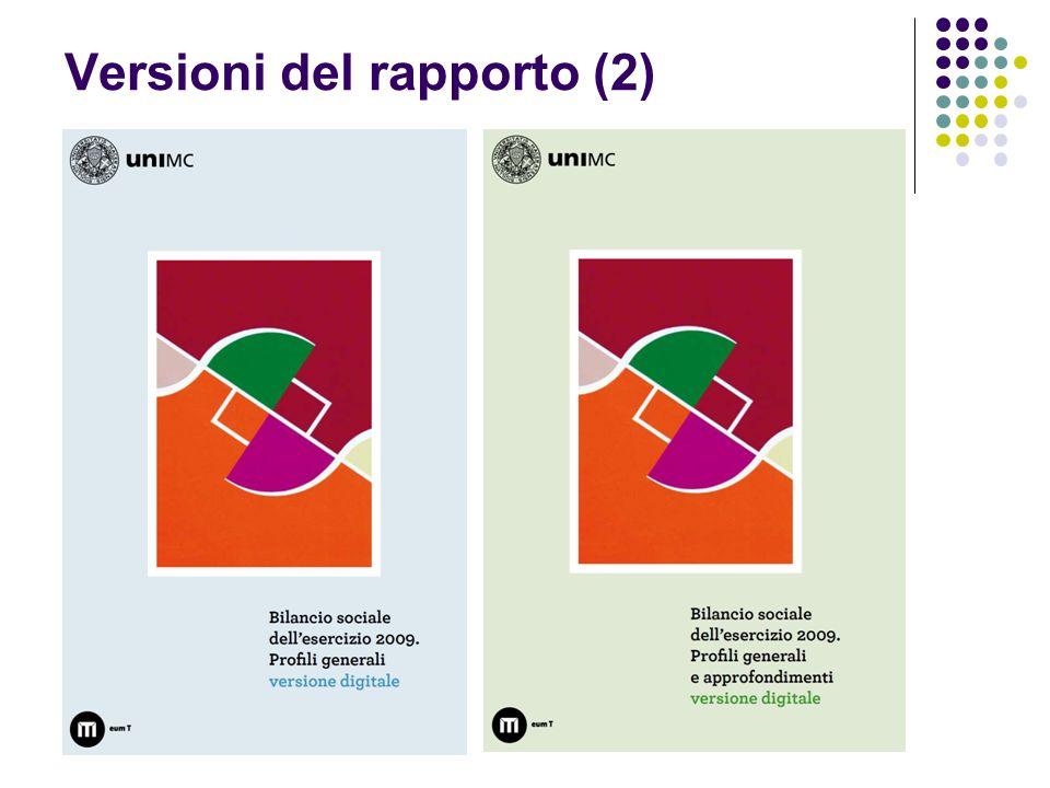 Versioni del rapporto (2)