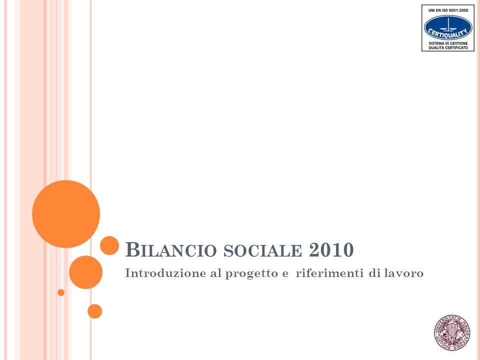 A RTICOLAZIONE DEL DOCUMENTO - 1 Prima parte: profili metodologici e presentazione dellateneo 1.