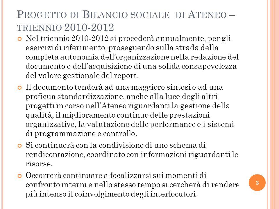 A RTICOLAZIONE DEL DOCUMENTO - 3 6.Segreterie studenti; 7.
