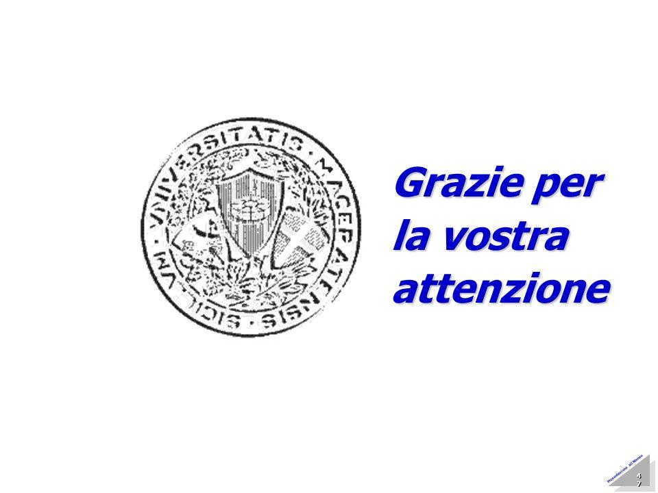Marzo 2005 Nucleo di Valutazione 47 47 47 47 47 47 47 47 Presentazione allAteneo Grazie per la vostra attenzione
