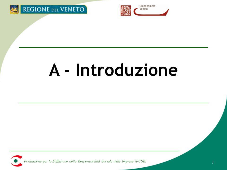 Fondazione per la Diffusione della Responsabilità Sociale delle Imprese (I-CSR) 3 A - Introduzione