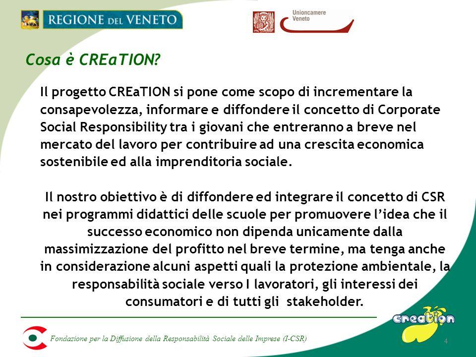 Fondazione per la Diffusione della Responsabilità Sociale delle Imprese (I-CSR) 4 Cosa è CREaTION.