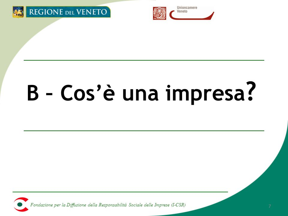 Fondazione per la Diffusione della Responsabilità Sociale delle Imprese (I-CSR) 48 F – Allegati: Film e Video Movies Film e video utili per linsegnamento Enron: The Smartest Guys In The Room (2005, Alex Gibney) Walmart: The High Cost of Low Price (2005, Robert Greenwald) Ahead of the curve: Business Responds to Climate Change (http://www.seastudios.org/ahead_video_wmp.php)http://www.seastudios.org/ahead_video_wmp.php Energy Independence and Climate Protection: A Business Perspective (http://www.youtube.com/watch?v=EUUfr51oB6A)http://www.youtube.com/watch?v=EUUfr51oB6A The Corporation (2003, 144,Mark Achbar, Jennifer Abbott) An inconvenient truth ( 2006, Al Gore, Billy West) Bowling for colombine (2002, Michael Moore) Erin Brockovich (2000, Steven Soderbergh) The 11th hour (2007, Leila Conners Petersen, Nadia Conners, Leonardo di Caprio)