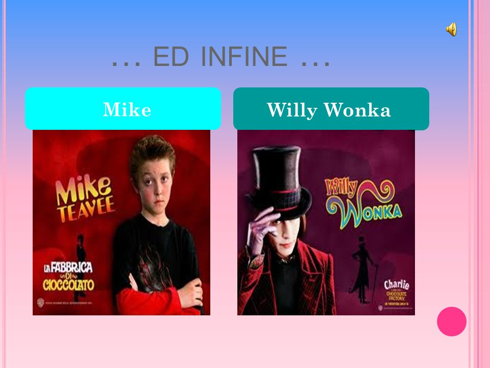 … ED INFINE … Mike Willy Wonka