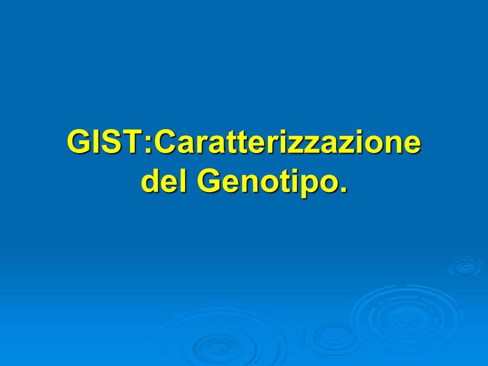 GIST:Caratterizzazione del Genotipo.