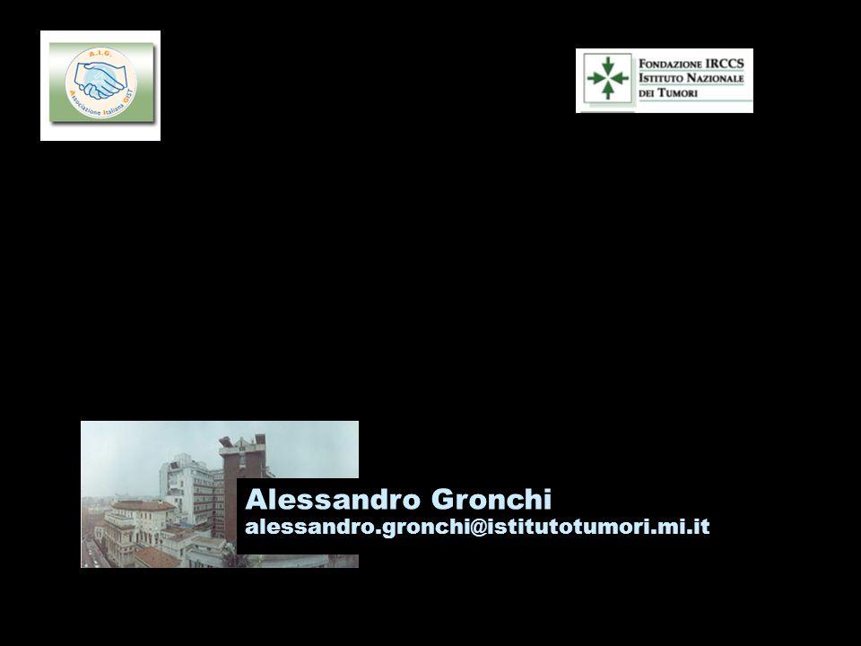 La chirurgia del residuo in risposta ad imatinib: le ragioni di uno studio clinico Alessandro Gronchi alessandro.gronchi@istitutotumori.mi.it