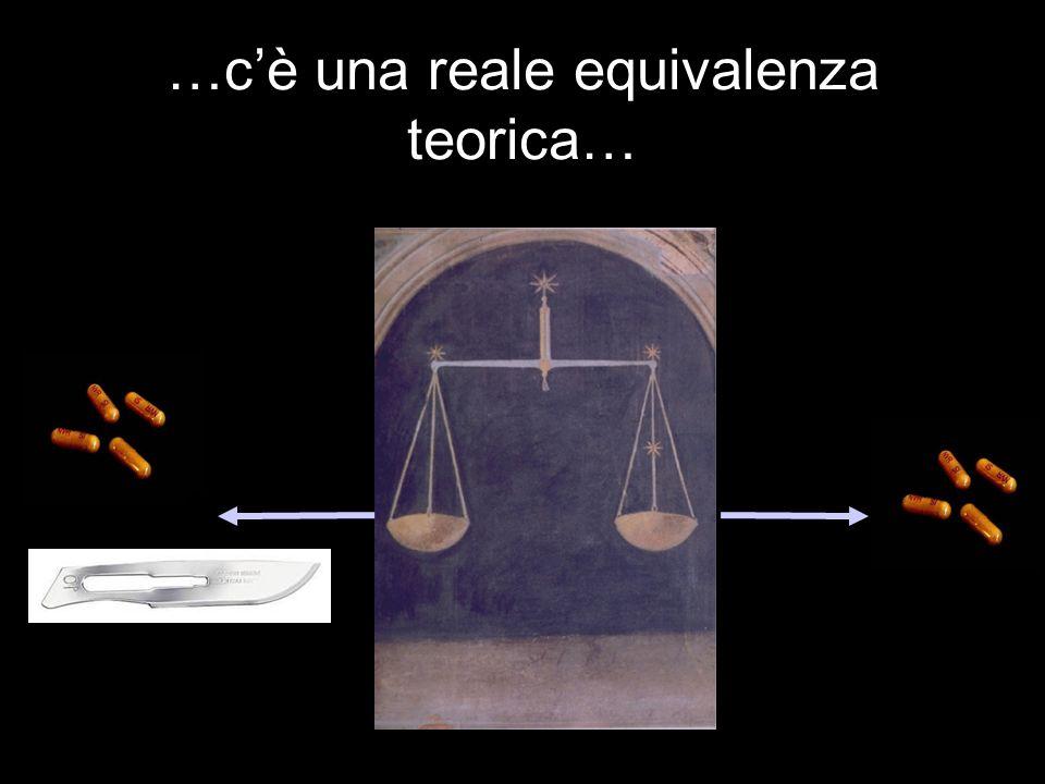 …cè una reale equivalenza teorica…