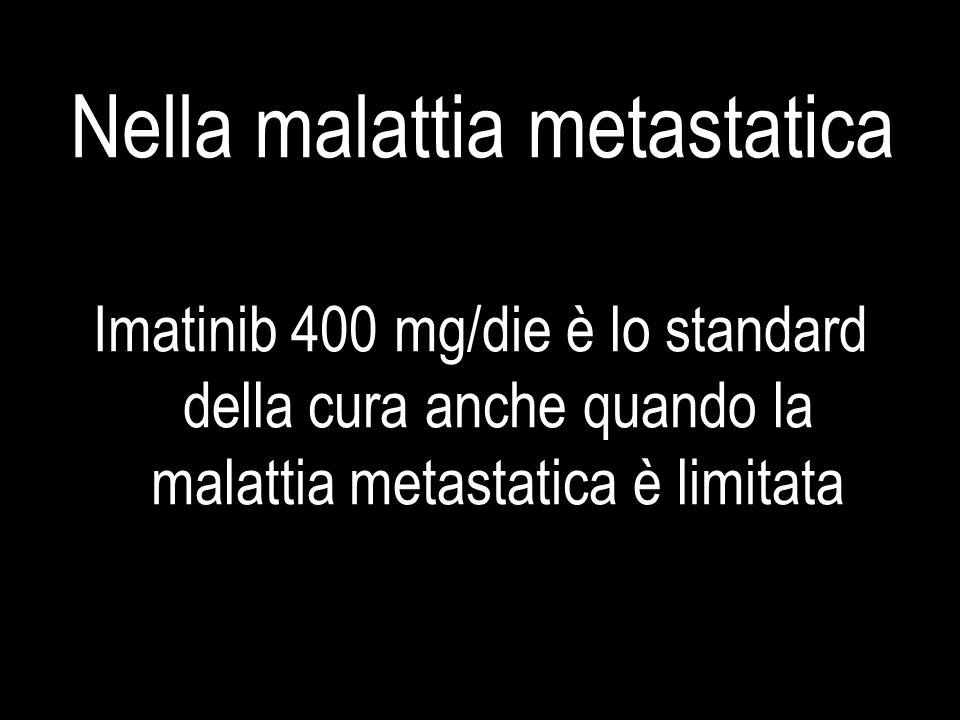 Nella malattia metastatica Imatinib 400 mg/die è lo standard della cura anche quando la malattia metastatica è limitata