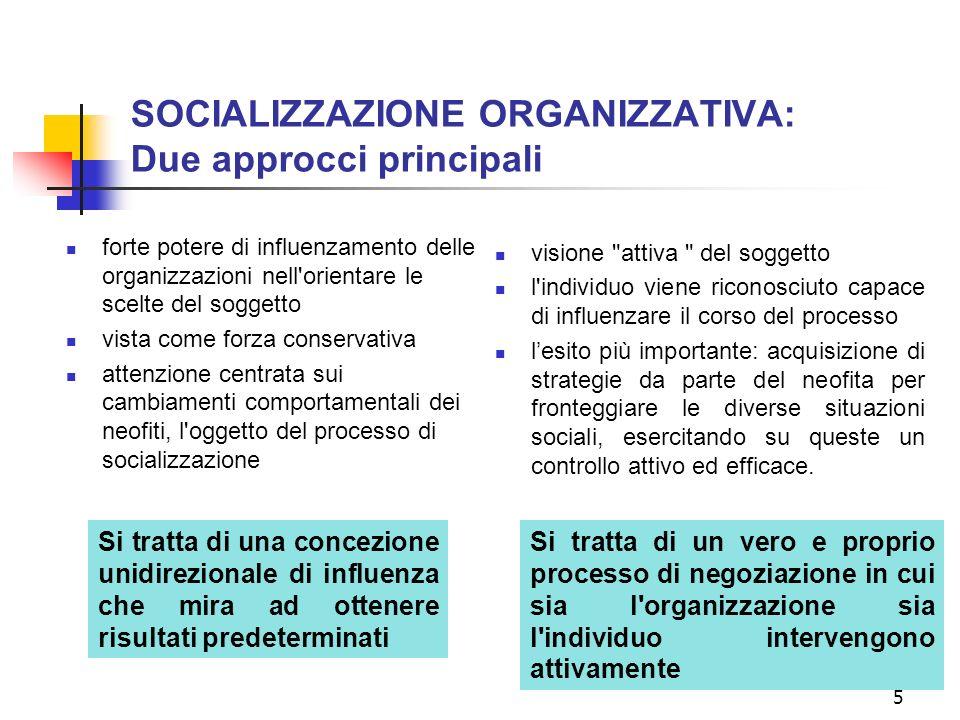 4 Differenti terminologie SOCIALIZZAZIONE LAVORATIVA: Processi formali e informali che portano una persona ad acquisire capacità, valori, credenze, at