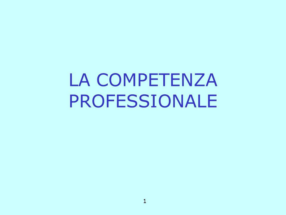 1 LA COMPETENZA PROFESSIONALE