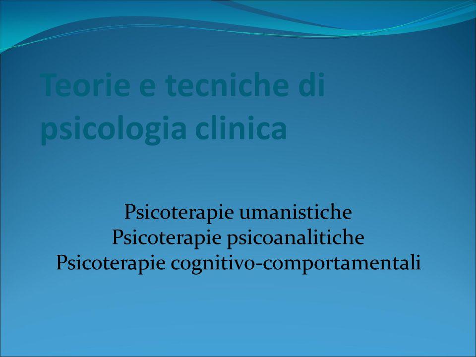 Psicoterapie cognitivo-comportamentali Tecniche mutuate dal condizionamento classico Controcondizionamento Flooding