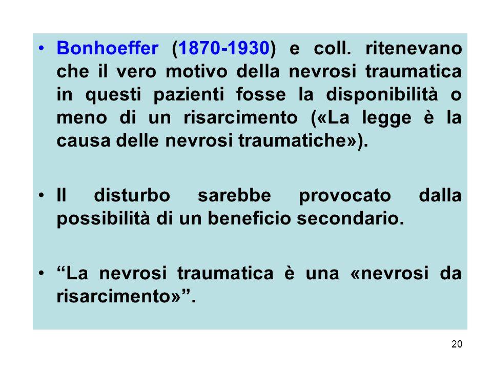 20 Bonhoeffer (1870-1930) e coll.