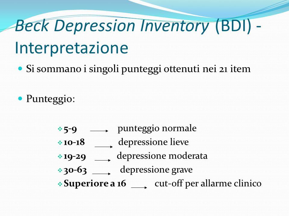 State-Trait Anxiety Inventory (STAY-Y) È un questionario di autovalutazione Il soggetto su una scala da 1 a 4 (1 = per nulla e 4 = moltissimo) valuta quanto le affermazioni presentate si addicono al suo comportamento