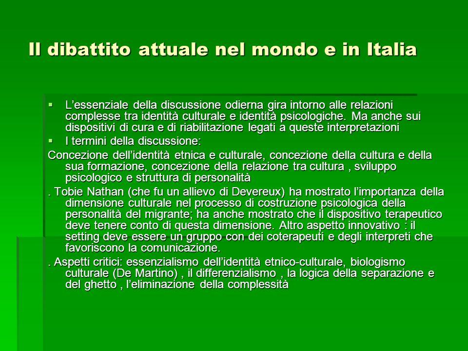 Il dibattito attuale nel mondo e in Italia Lessenziale della discussione odierna gira intorno alle relazioni complesse tra identità culturale e identi