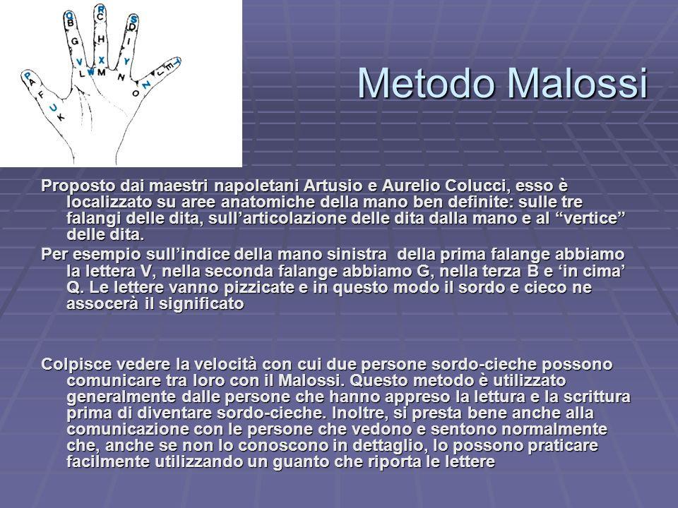 Metodo Malossi Proposto dai maestri napoletani Artusio e Aurelio Colucci, esso è localizzato su aree anatomiche della mano ben definite: sulle tre fal