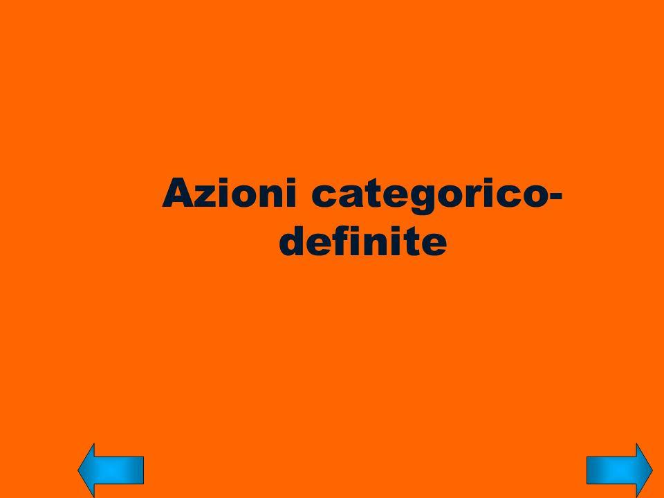 Azioni categorico- definite