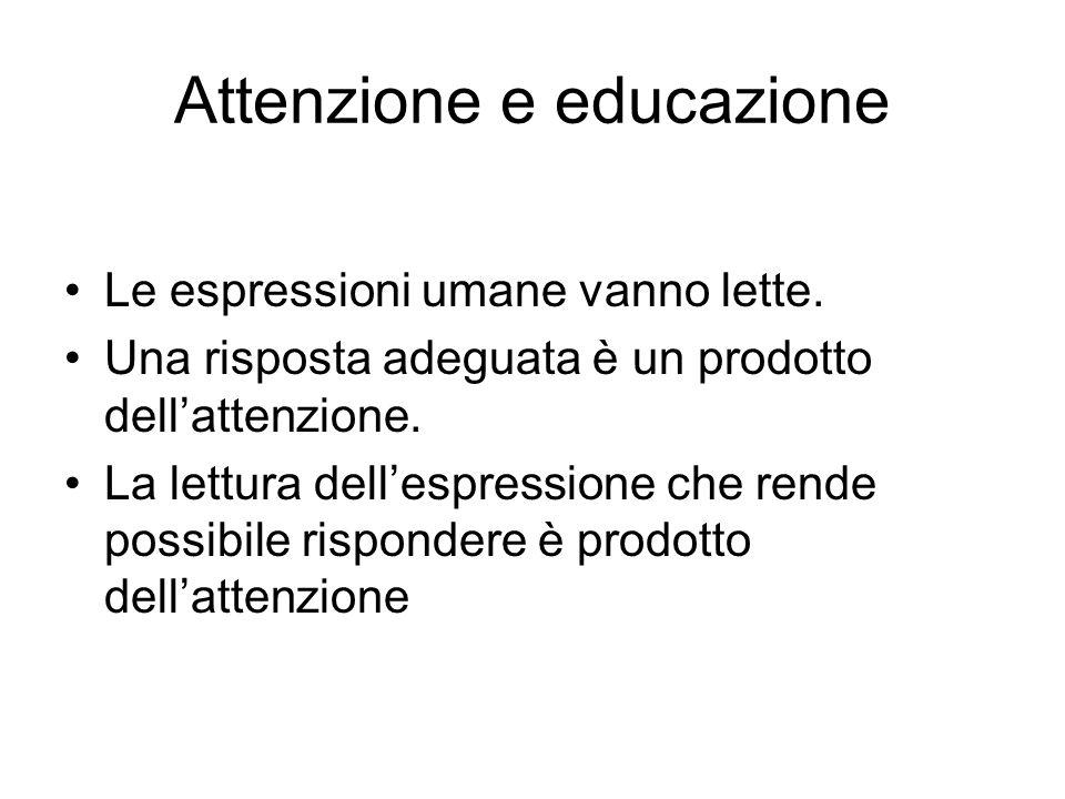 Attenzione e educazione Le espressioni umane vanno lette.